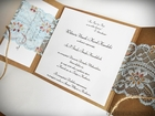 Romantyczne zaproszenia z eko papieru i koronki (8)