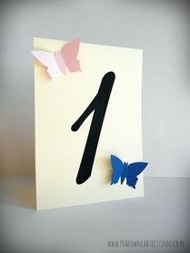 Numery stołów z motylami /MOTYL II/