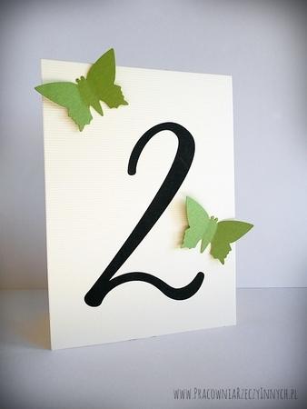 Numery stołów z motylami /MOTYL II/ (2)