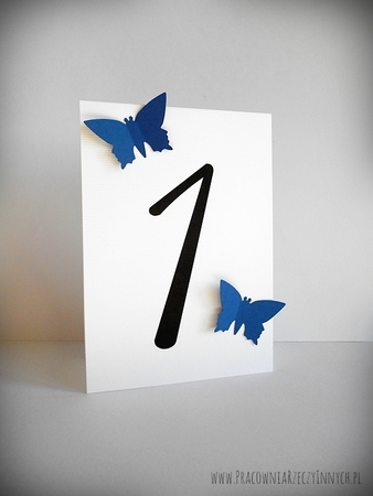 Numery stołów z motylami /MOTYL II/ (4)
