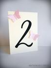 Numery stołów z motylami /MOTYL II/ (6)