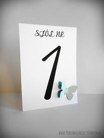 Numery stołów z podwójnym motylem /MOTYL I/