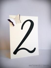Numery stołów z podwójnym motylem /MOTYL II/