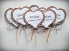 Pikery w kształcie serduszek, podziękowania, etykiety (10)