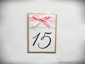 Kolorowe numerki z koronką