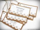 Rustykalne karteczki z podziękowaniami / koronka lub serduszko (1)