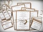 Rustykalne karteczki z podziękowaniami / koronka lub serduszko (5)