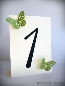 Numery stołów z ażurowymi motylkami /BUTTERFLY/