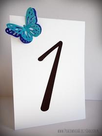 Numery stołów z podwójnym motylem ażurowym /BUTTERFLY/