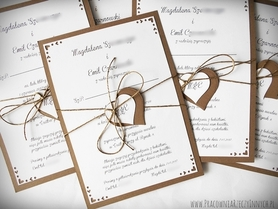 Rustykalne zaproszenie ze zdobionymi rogami