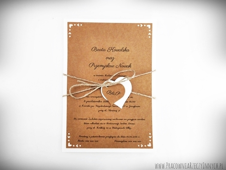 Rustykalne zaproszenie ze zdobionymi rogami (2)