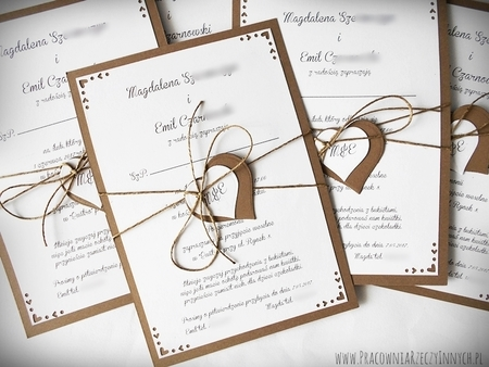 Rustykalne zaproszenie ze zdobionymi rogami (1)