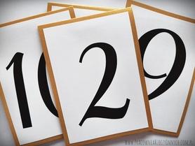 Kolorowe numery stołów