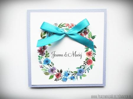 Kolorowe zaproszenia z kwiatami (15)