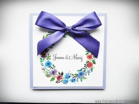 Kolorowe zaproszenia z kwiatami (6)