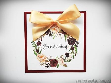 Kolorowe zaproszenia z kwiatami (7)