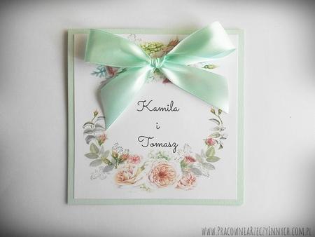 Kolorowe zaproszenia z kwiatami (2)