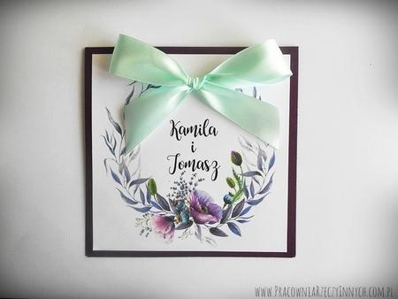 Kolorowe zaproszenia z kwiatami (20)