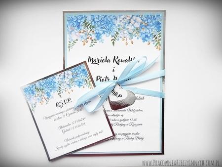 Zaproszenia z lustrzanym papierem i motywem kwiatowym (14)