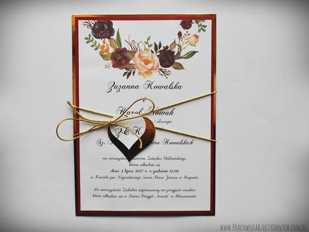 Zaproszenia z lustrzanym papierem i motywem kwiatowym (26)