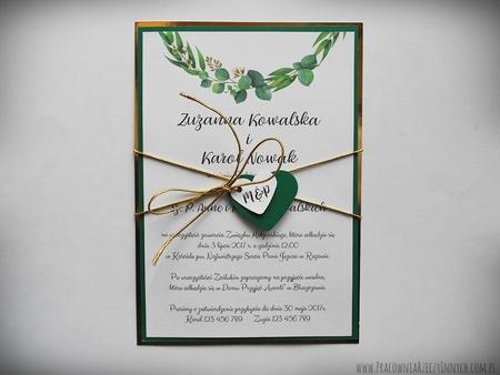 Zaproszenia z lustrzanym papierem i motywem kwiatowym (4)
