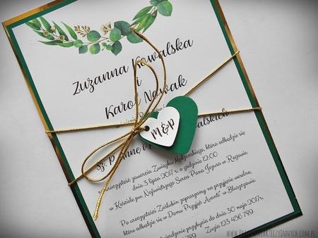 Zaproszenia z lustrzanym papierem i motywem kwiatowym (15)