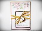Zaproszenia z lustrzanym papierem i motywem kwiatowym (1)