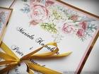 Zaproszenia z lustrzanym papierem i motywem kwiatowym (2)
