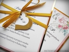 Zaproszenia z lustrzanym papierem i motywem kwiatowym (3)