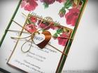 Zaproszenia z lustrzanym papierem i motywem kwiatowym (11)