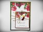 Zaproszenia z lustrzanym papierem i motywem kwiatowym (12)