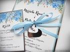 Zaproszenia z lustrzanym papierem i motywem kwiatowym (13)