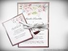 Zaproszenia z lustrzanym papierem i motywem kwiatowym (25)