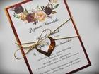Zaproszenia z lustrzanym papierem i motywem kwiatowym (27)