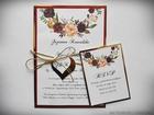Zaproszenia z lustrzanym papierem i motywem kwiatowym (28)