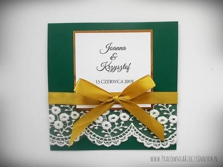 Eleganckie zaproszenia z koronką (2)