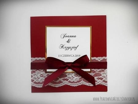Eleganckie zaproszenia z koronką (1)