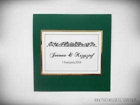 Zaproszenia klasyczne z kryształkiem i złotym papierem