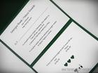 Kopertowe zaproszenie z koronka i serduszkami (4)