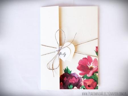 Boho zaproszenia kwiatowe (10)