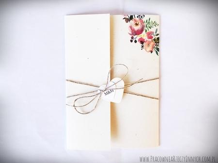 Boho zaproszenia kwiatowe (11)