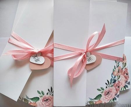 Kwiatowe zaproszenia w formie folderu (23)