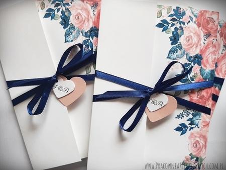 Kwiatowe zaproszenia w formie folderu (22)