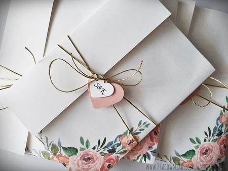 Kwiatowe zaproszenia w formie folderu (20)