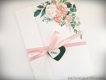 Kwiatowe zaproszenia w formie folderu (14)