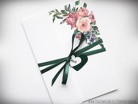 Kwiatowe zaproszenia w formie folderu (18)