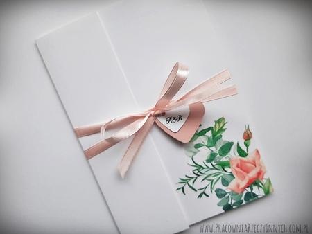 Kwiatowe zaproszenia w formie folderu (16)