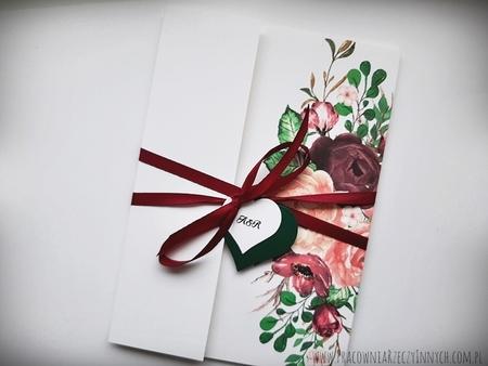 Kwiatowe zaproszenia w formie folderu (37)