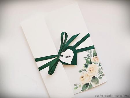Kwiatowe zaproszenia w formie folderu (13)