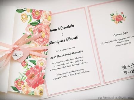 Kwiatowe zaproszenia w formie folderu (5)